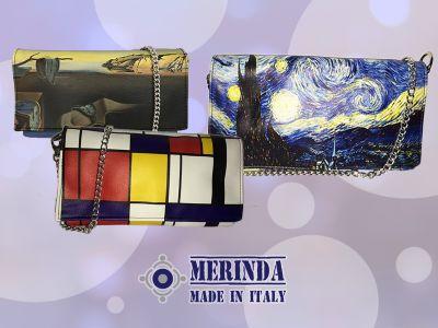 offerta pochette stampe artistiche promozione pochette made in italy merinda