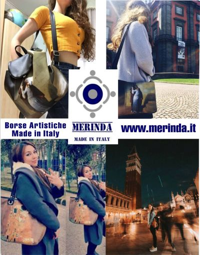 offerta borse artistiche made in italy occasione borse esclusive merinda linea arte donna