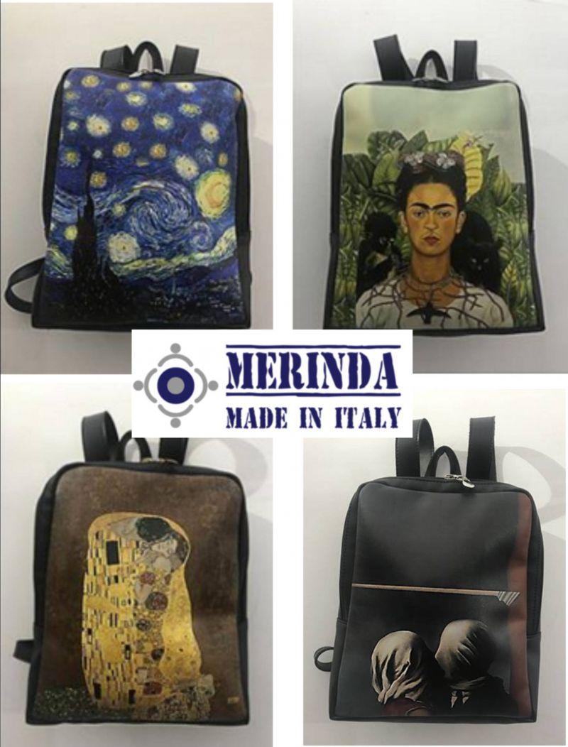 offerta zaini con stampe Artistiche Made in Italy - occasione zaini arte Merinda