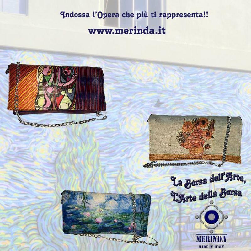 offerta borse con stampe artistiche made in italy - occasione borse arte esclusive merinda NA