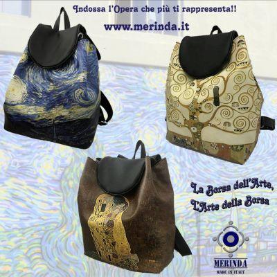 offerta zaini con stampe artistiche made in italy occasione zaini esclusivi napoli