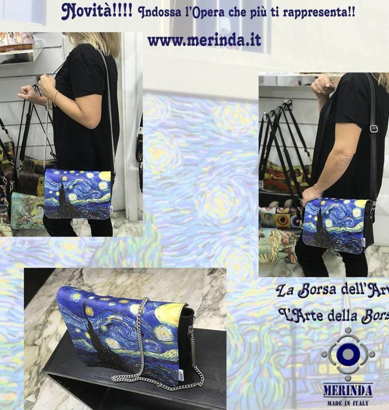 offerta vendita borse con stampe artistiche made in italy a napoli - occasione merinda borse
