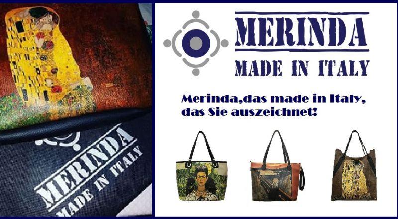 MERINDA occasione vendita online borse stampe d'autore made in italy