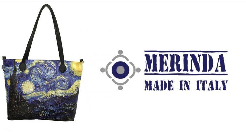 MERINDA occasione vendita online zainetto stampa d'autore linea arte donna made in italy