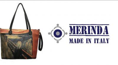 fb234142eb05 merinda occasione vendita online tracolla stampa dautore munch lurlo made  in italy