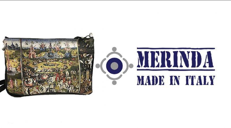MERINDA occasione vendita borsa con tracolla catena made italy Bosh Il giardino delle delizie