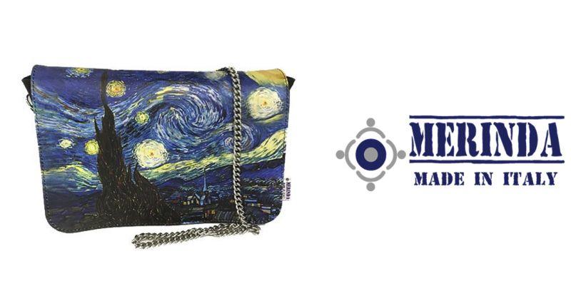 MERINDA offerta vendita online borsa con tracolla Linea Arte Van Gogh Notte stellata