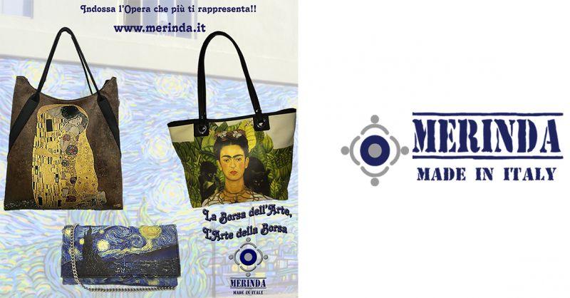 MERINDA offerta vendita online borsa arte made in italy Frida Khalo Van Gogh Klimt