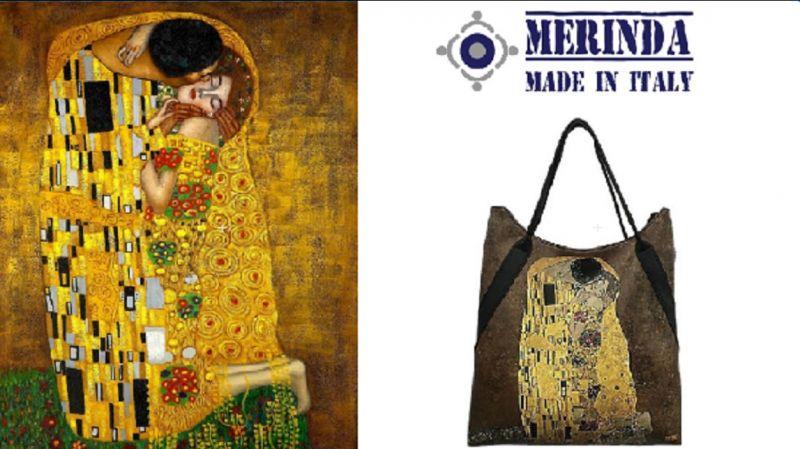 Merinda Gelegenheit ONLINE-Verkauf von Taschen mit Kunstwerk Drucken Made in Italy Klimt