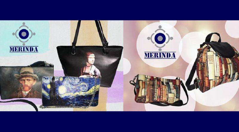 MERINDA offerta vendita online zaino d'arte borsa d'arte made in italy Klimt Van Gogh Frida