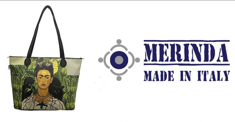 MERINDA - Promotion verkauf online Kunsttasche Damentaschen in Italien hergestellt Frida Khalo