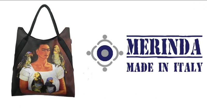 MERINDA - Bieten online verkauf von Damentaschen Italien mit Druckern von Autoren Frida Kahlo
