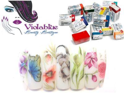 offerta acquarelli nail art bergamo promozione watercolour st petersburg violablueshop