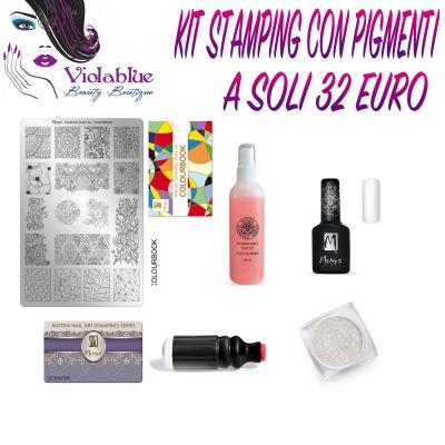 promozione news novita offerta saldi kit stamping pigmenti nail art moyra nails nail
