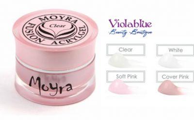 viola blue offerta fusion acrylgel clear promozione nail art prodotti moyra