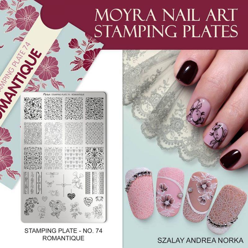 Piastra per stamping unghie Moyra Romantique