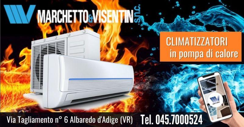 Offerta installazione condizionatori Fujitzu con pompa di calore a basso consumo Verona