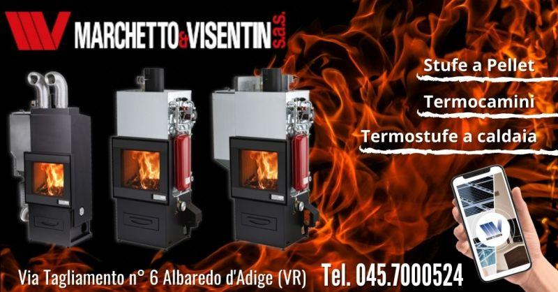 Offerta vendita termocamini Foghet legna pellet - Occasione termocamino combinato legna gas Verona