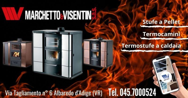 Offerta termostufa Caldea Jolly Mec combinata legna pellet Verona - Occasione stufe Jolly Mec riscaldamento ad acqua