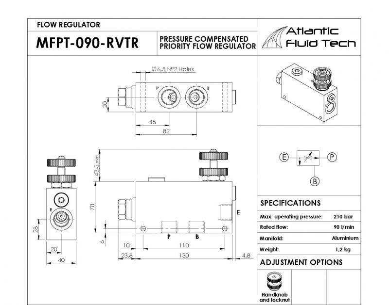 Offerta Flow regulator 3 way combination type pressure compensated - interchangeable VRFC3C
