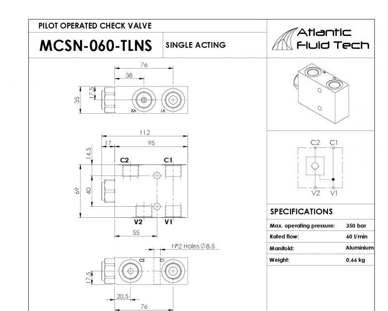 Offerta  Promozione Atlantic Fluid Tech MC000076 Pilot operated check, single