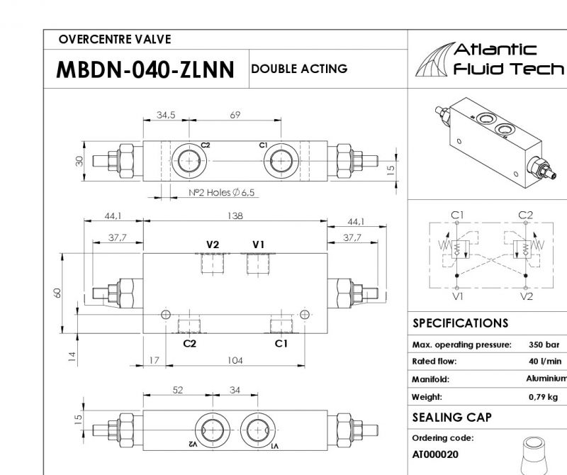 Offerta Atlantic Fluid Tech MB000310- Promozione Dual counterbalance