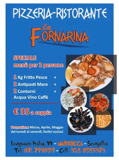 speciale menu pesce per due persone a soli 35 euro a coppia
