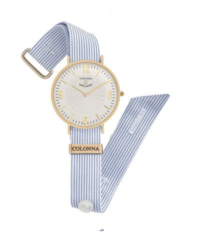 da il gioiello trovi orologi colonna orologio a righe strette azzurro scuro