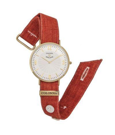 da il gioiello collezione orologi colonna orologio in lino rosso
