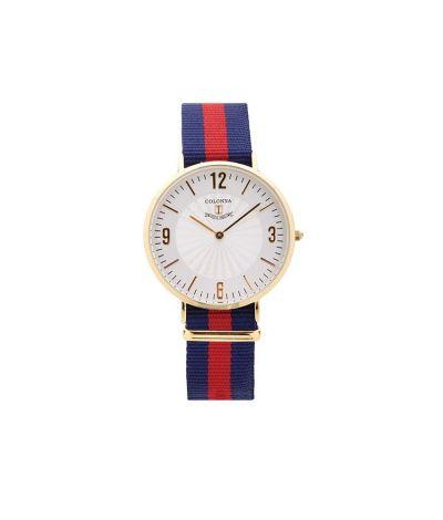 da il gioiello trovi orologi colonna linea classici uomo orologio a righe blu e rosso