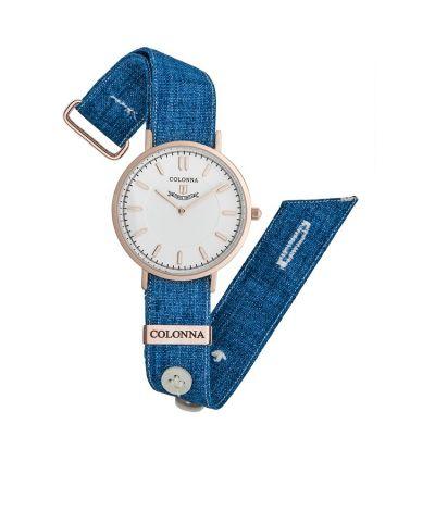 da il gioiello trovi la collezione orologi colonna orologio in lino blu