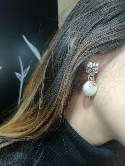 da il gioiello trovi orecchini nemoris in argento bronzo e perla naturale coltivata mabe