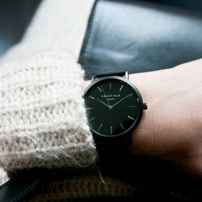 da il gioiello trovi orologio rosefield the mercier nero nero