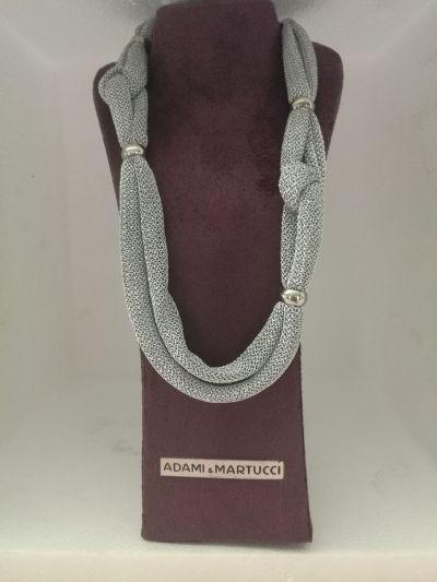 adami martucci da il gioiello trovi collana argento e tessuto promo