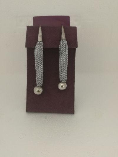 da il gioiello trovi orecchini in argento e tessuto adami martucci gioielleria