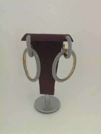 da il gioiello trovi gli orecchini in argento e tessuto adami martucci promo