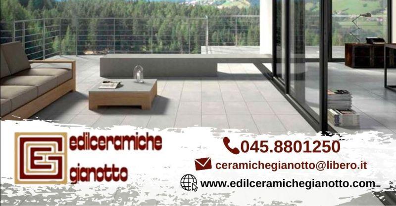 Offerta fornitura e posa pavimentazioni per esterni - Occasione pavimenti di ceramica finto parquet Verona