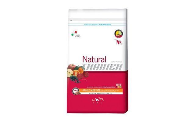 Trainer natural medium pollo, riso e aloe vera 12,5 Kg