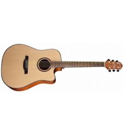 offerta chitarra acustica elettrificata crafter hde250 natural