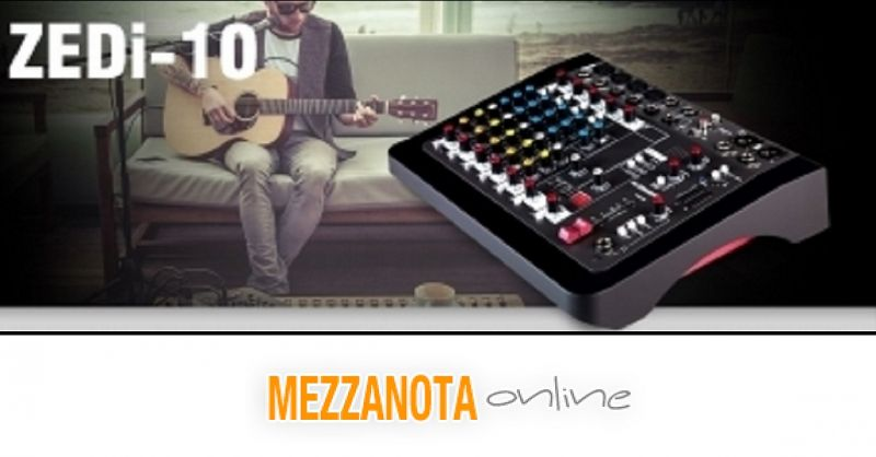 MEZZANOTA MUSIC STORE - OCCASIONE VENDITA ZEDI10 MIXER ANALOGICO +INTERFACCIA AUDIO USB VICENZA