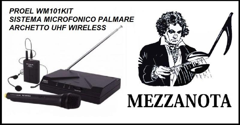 MEZZANOTA Offerta vendita sistema microfonico palmare - Occasione Kit radiomicrofono a mano
