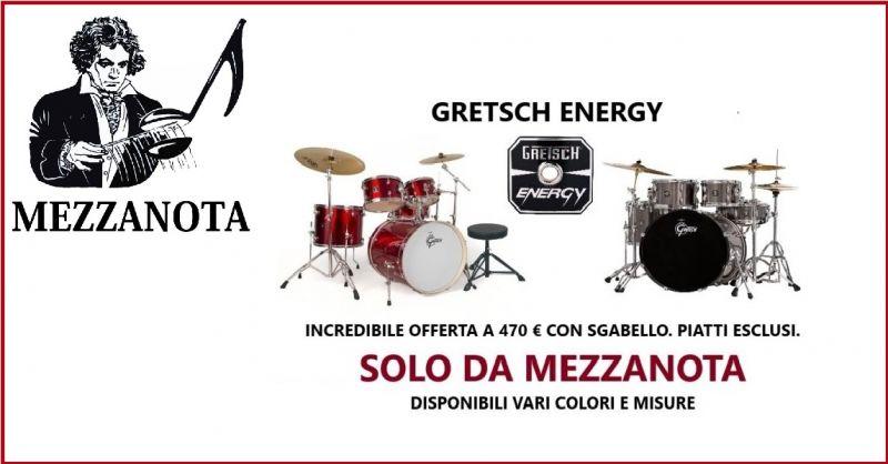 MEZZANOTA - Occasione vendita Batteria Acustica Gretsch ENERGY completa Vicenza