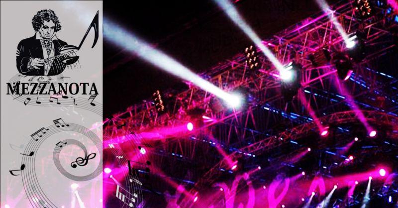 MEZZANOTA - Promozione servizio professionale allestimenti impianti audio illuminazione eventi