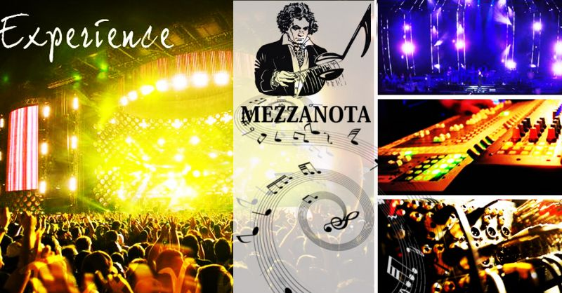 MEZZANOTA - Occasione azienda specializzata allestimento service audio e impianti illuminazione