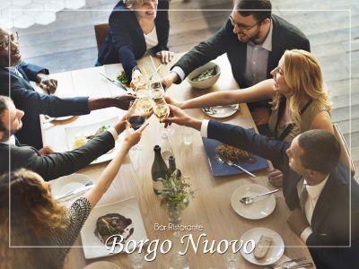 offerta organizzazione cene aziendali per lavoro bar ristorante borgo nuovo