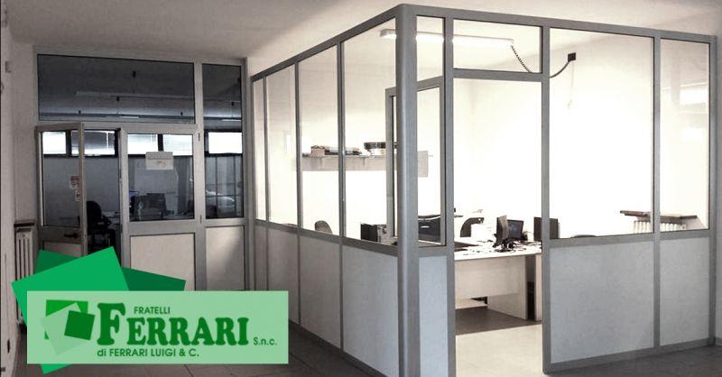 Promozione installazione pareti divisorie per aziende - offerta pareti modulari uffici Piacenza