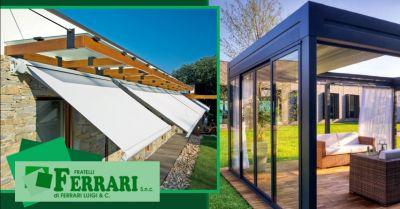 promozione installazione pergole bioclimatiche offerta tende da sole estensibili piacenza