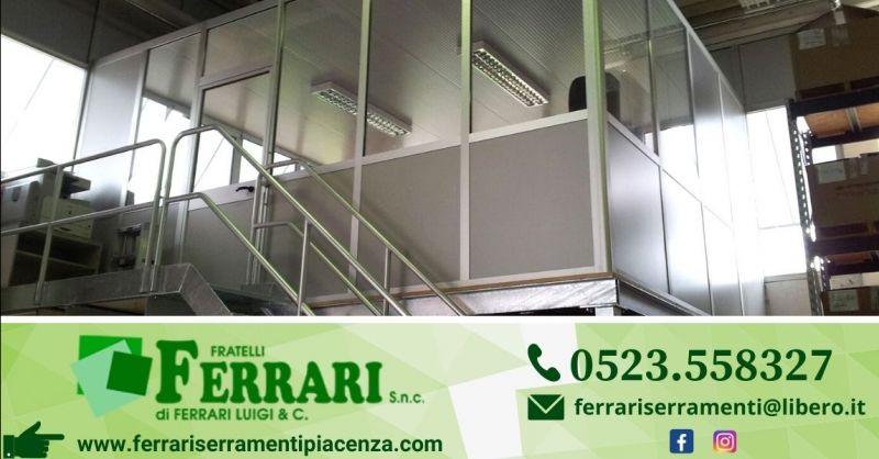 Offerta produzione pareti divisorie per ufficio - Occasione fornitura pareti modulari per uffici Piacenza
