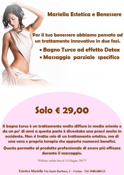 bagno turco detossinante e massaggio parziale