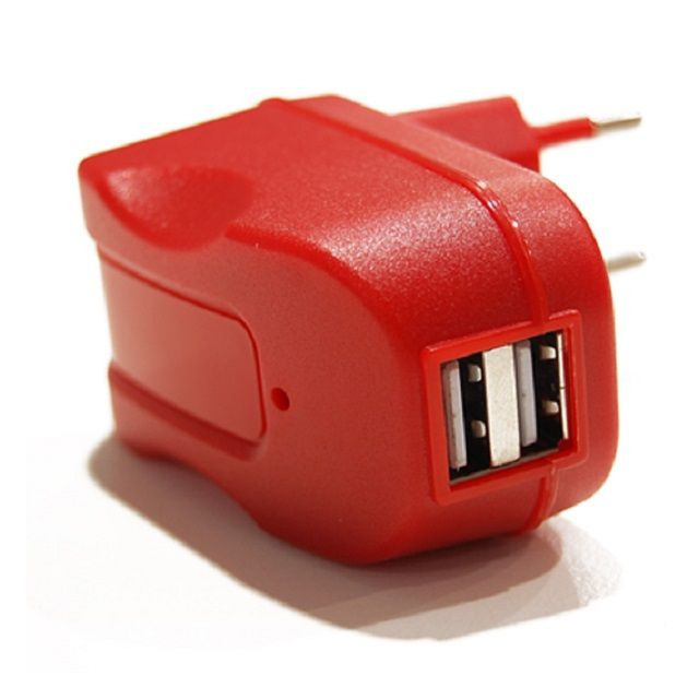 da media service trovi mobile office power adapter 2 usb outputs red color